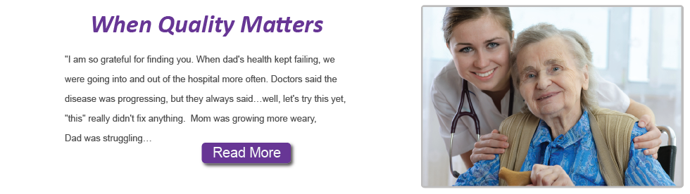 When Quality Matters Homepage Banner