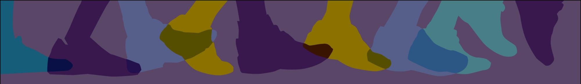 Multi Color Feet Header