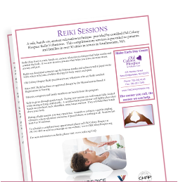 Reiki Sessions for Patients and Caregivers